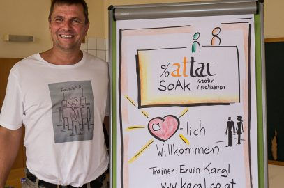 Attac Sommerakademie – Grafic Recording und kreativ Visualisieren Workshops